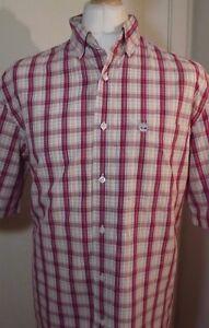 Mens-Timberland-Check-Short-Sleeve-Shirt-Size-Medium-Large