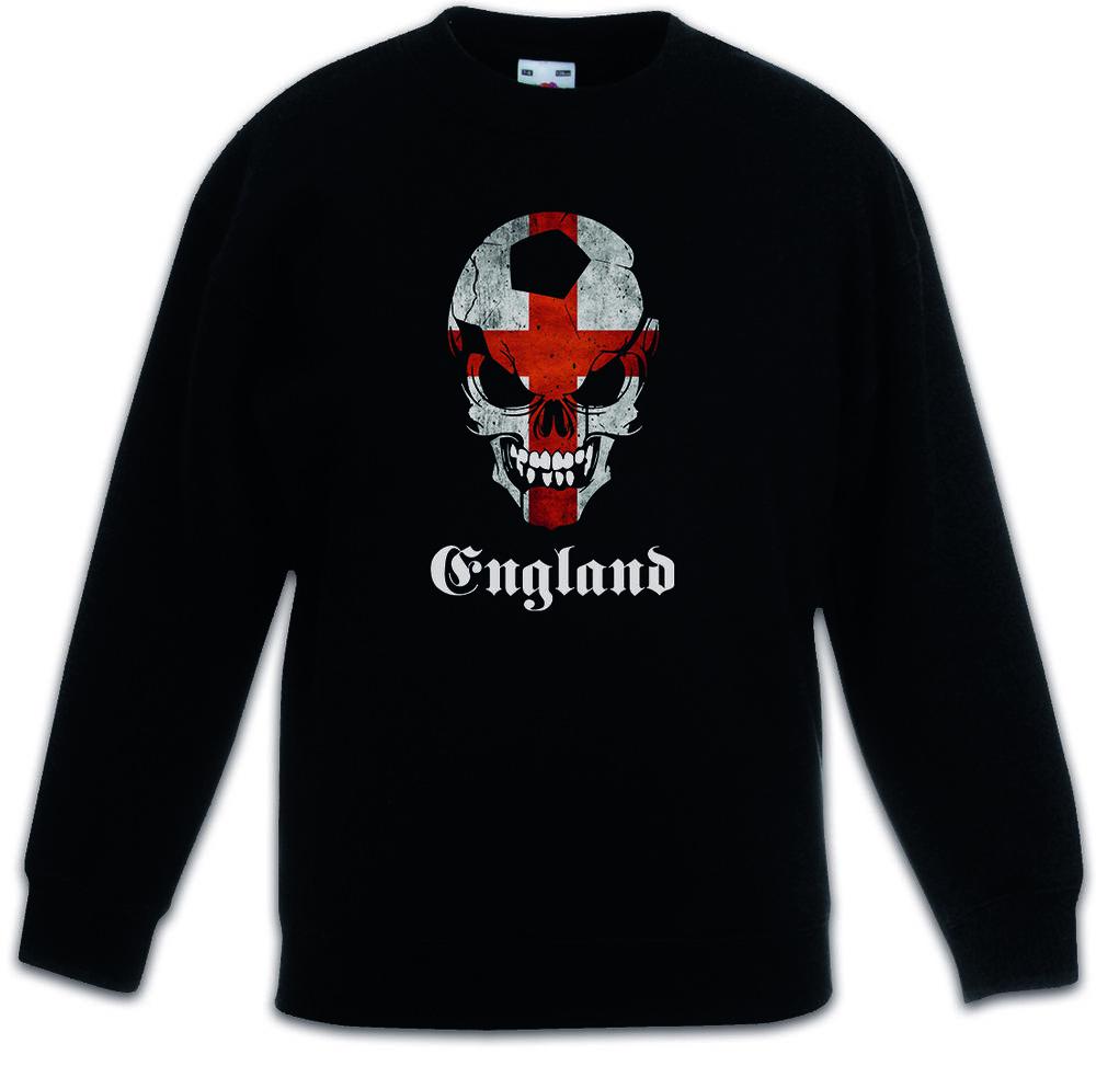 Juste Football Angleterre Skull Flag Enfants Pull Fan Hooligans Football Drapeau Drapeau Apparence éLéGante