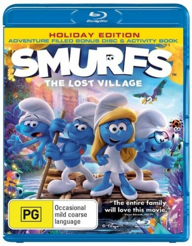 1 of 1 - Smurfs The Lost Village Holiday Edition Activity Book Blu Ray + UV NEW