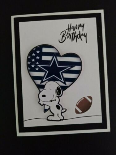 SNOOPY DALLAS COWBOYS BIRTHDAY GREETING CARD