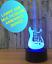 LAMPE-GUITARE-STRATOCASTER-USB-ambiance-multicolor-chevet-enfant-sans-piles miniature 1