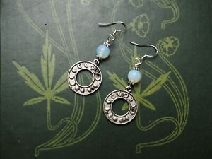 Opalite-Moon-Phase-Earrings-Goddess-Witchcraft-Pagan-Sterling-Silver