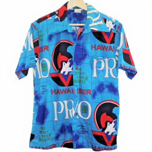 Vintage 1960/'s70/'s PRIMO BEER Cotton Hawaiian Loop Shirt  Hawaiian Holiday  Cowpunk  Rockabilly  Retro Collectable Rare
