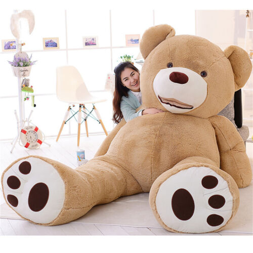 80//100//160//200cm Super Huge Teddy Bear Cover Plush Toy Shell With Zipper Gift