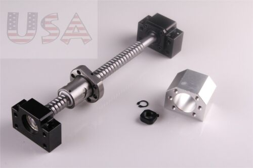 RM1605 SFU1605 L-550mm Ballscrew and BK12//BF12 with Nut Housing Brand New