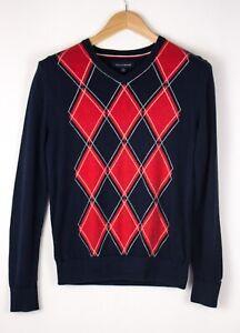 TOMMY-HILFIGER-Men-Casual-Knit-Jumper-Sweater-Size-XS-ATZ453