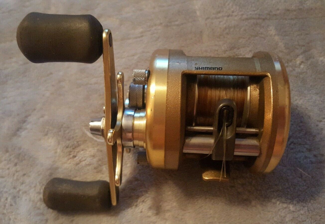 VINTAGE SHIMANO CARDIFF 200 BAIT CASTING FISHING REEL RIGHT HAND Very Good COND.
