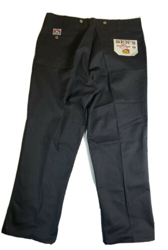 BEN DAVIS WORK CHINO PANTS MEN'S 40x30 BLACK 100%