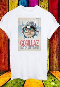 GORILLAZ-Live-su-lettera-Uomo-KIDS-CON-PISTOLE-MUSICA-uomini-donne-unisex-T-SHIRT-28