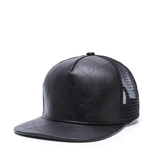 Wuke Basecap Casquette Unisexe PU Baseball Hip Hop Snapback Mesh Trucker Premium VIP
