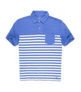 d6e94177ec Vineyard Vines Men's Jersey Polo Golf Shirt Breaker Blue Stripes ...