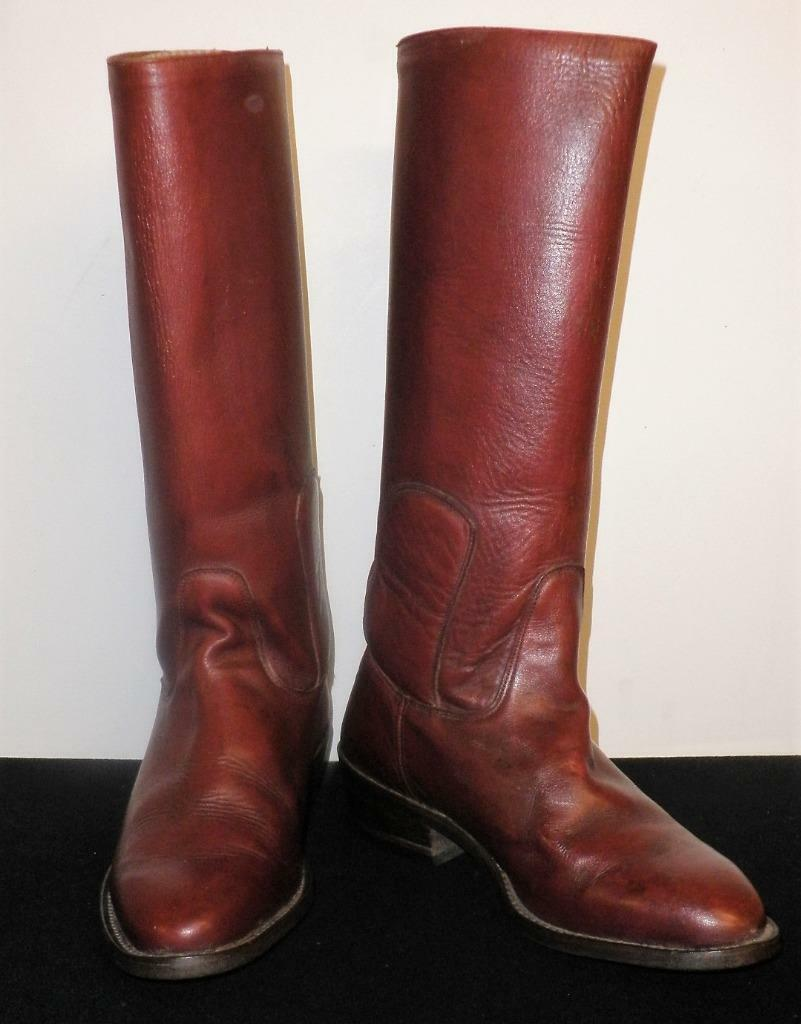 Vintage Ladies Australian Made Ian Harold Leather Oxblood Polo Riding Boots