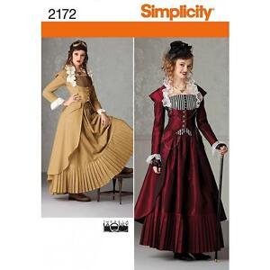 SIMPLICITY-patron-costura-mujer-039-Victoriano-era-inspirado-abrigos-falda-bustier
