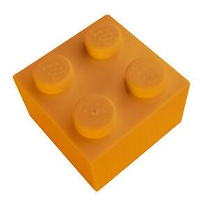 Lego-50-Piece-Pierre-2x2-Orange-3003-Neuf-de-Base-Pieces-Construction-Basics