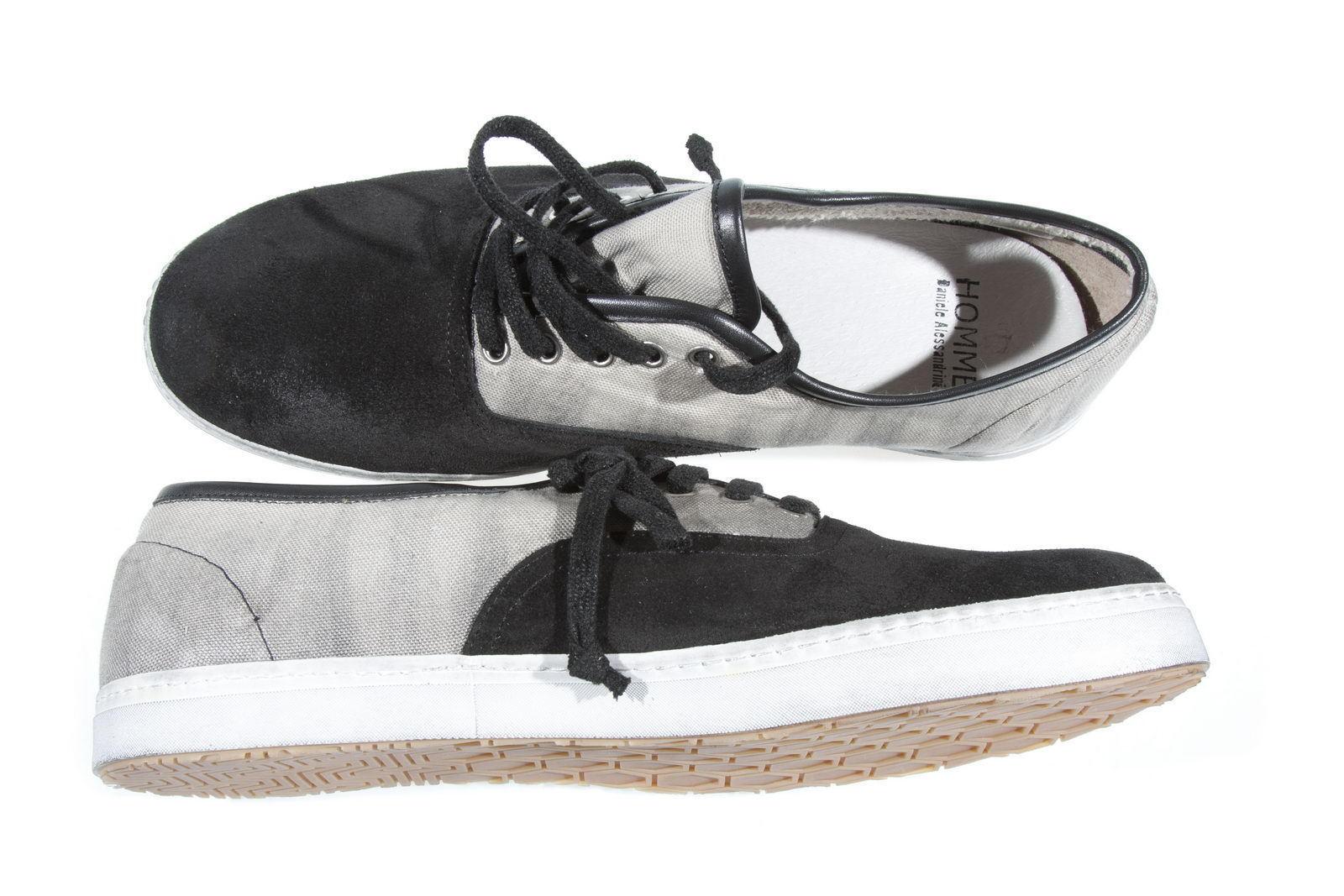shoes Sneaker Daniele Alessandrini shoes ITALY Pelle men black F080K103302 1