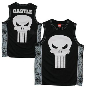 1d5f215695b80 Image is loading Marvel-The-Punisher-Frank-Castle-Skull-Jersey-Tank-