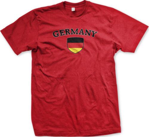 Germany Flag Crest Deutschland National Soccer Football Pride Mens T-shirt
