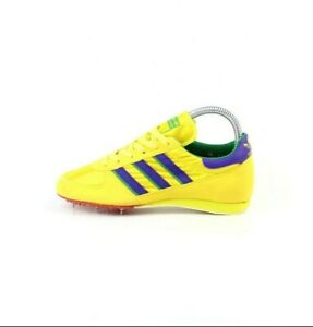 NOS 80s adidas Win vintage spikes shoes Track Field neon yellow made France OG
