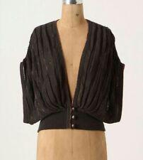 Anthropologie Sz Medium Gray Knit Sweater Shrug Shaded Rays Wrap by Moth