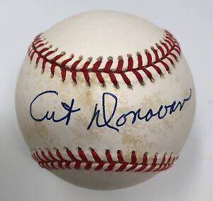 Art Donovan Signed Baseball Baltimore Colts OMLB NFL HOF Autograph JSA