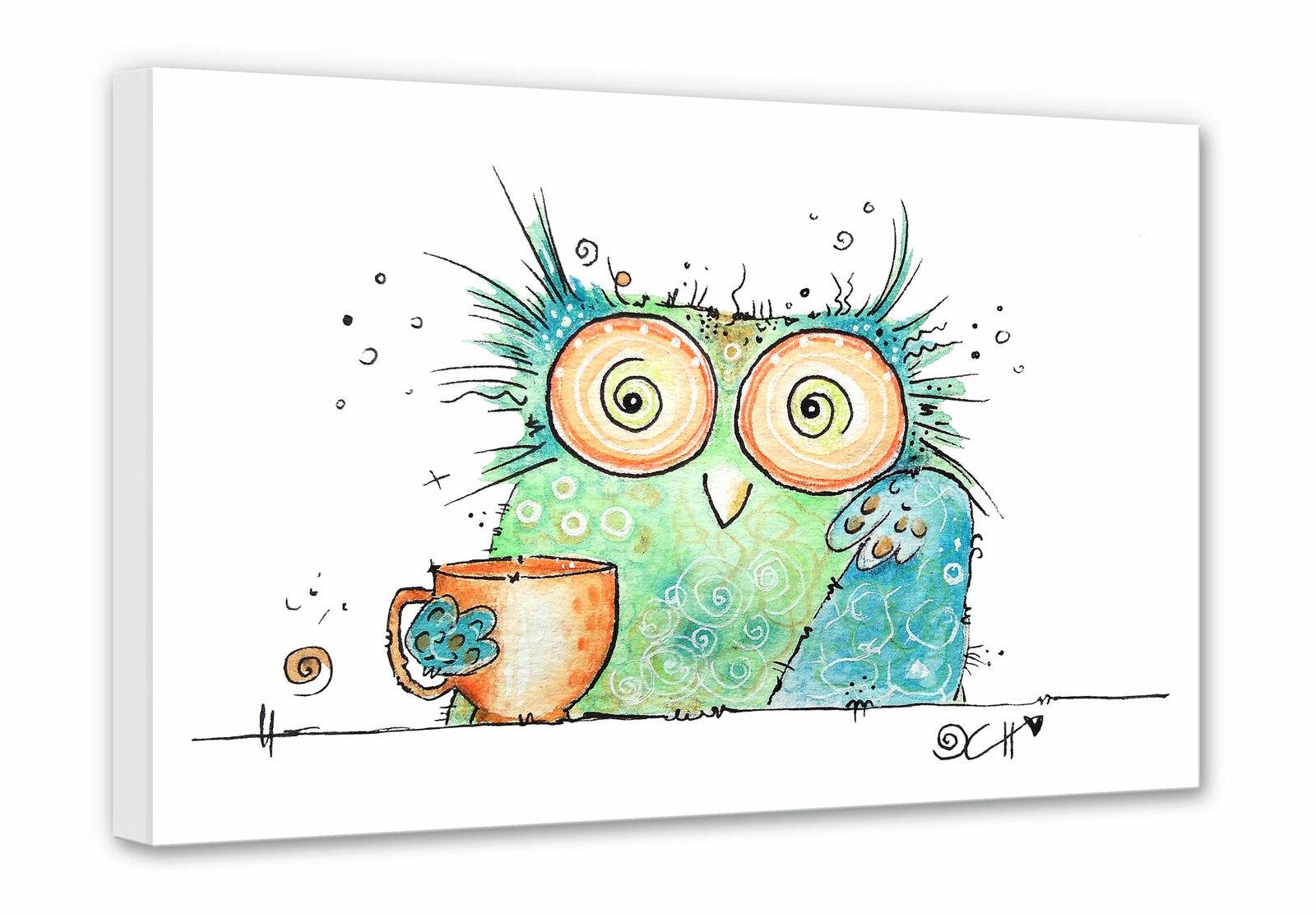 Leinwandbild Hagenmeyer - Coffee Leinwanddruck Wandbild gerahmt Wanddeko Canvas