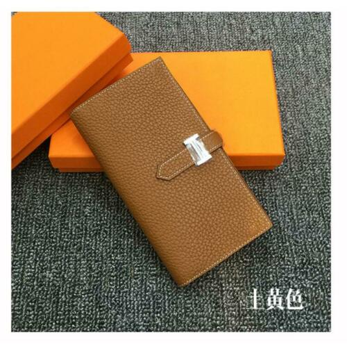 Genuine Leather Wallets For Women Ladies Long Wallet Coin Purse Card Holder Bag
