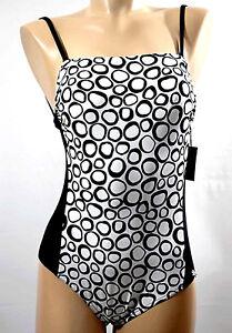 Impartial Platja Maillot Bain 1 P. Tailles S, M, L & 2xl Noir & Blanc 'lora-black-white'