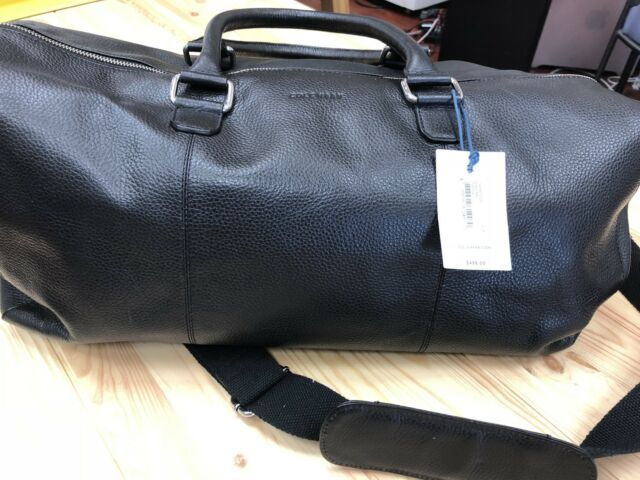 Cole Haan Black Wayland Leather Duffle Travel Bag Chdm11025 for sale ... 3124e47d51443