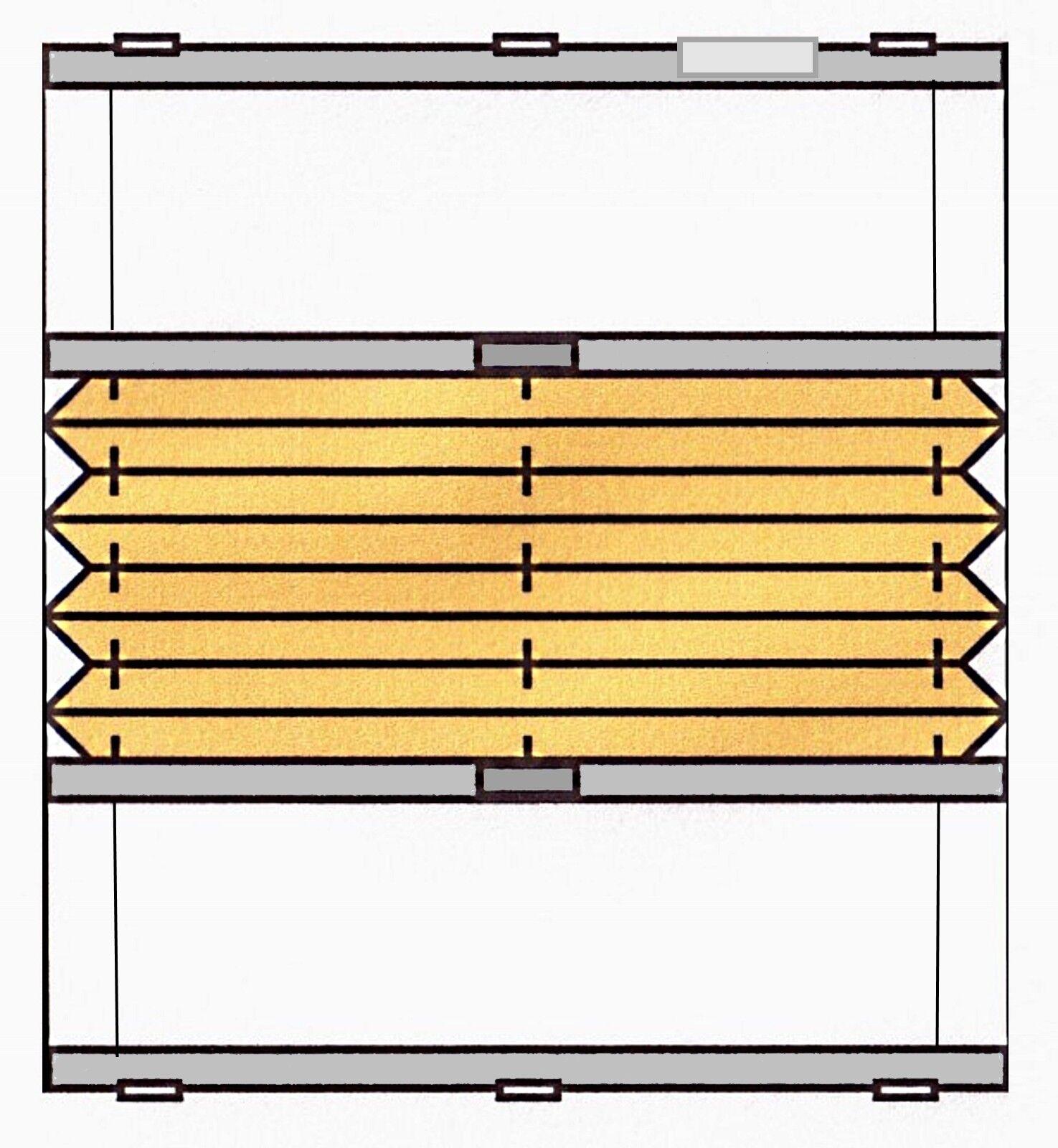 PLISSEE PLISSEE PLISSEE MDB Wabe Doppelplissee Verdunkelung Hitzeschutz Heim & Haus Renolux | Der Schatz des Kindes, unser Glück  dbfff3