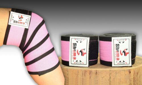 Shuma Heavy Duty Level 2 Knee Wraps Support Cross Training Powerlifting squat