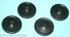 4-uralte-schwarze-Blech-Rader-Blechspielzeug-Hausser