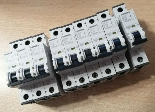 Siemens 5SY6 213-8 MCB D 13 Leistungsschutzschalter  2 Pol neuwertig mit OVP!
