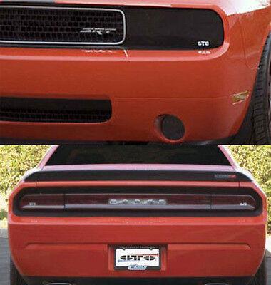 Cutout Center Panel 3pc Kit 2008-2014 Challenger GTS Smoke Tail Light Covers