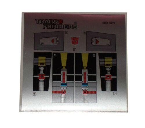 G1 Repugnus Sticker Decal Sheet