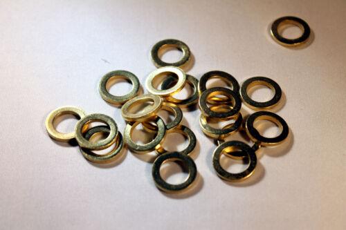 100 Fitschenringe Ø17,8 mm innen Ø12,2 mm Stahl vermessingt Türbänder Ringe