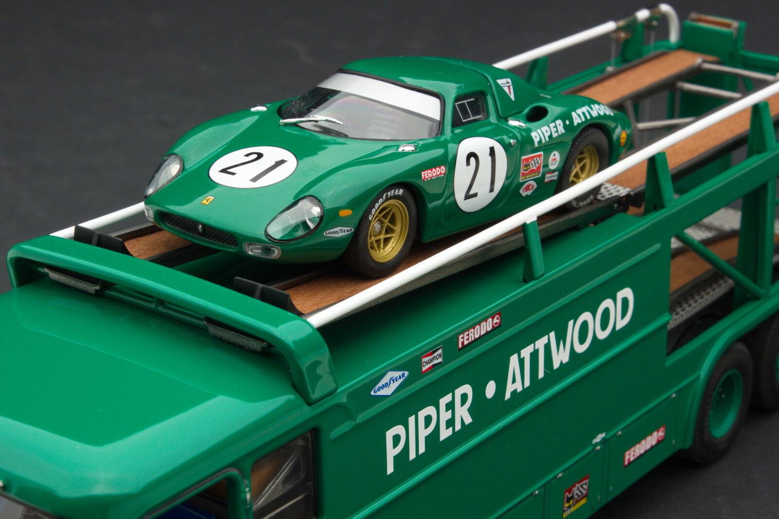 Exoto Piper-Attwood   Le Mans Bartoletti 306 2 Transporter   1 43   EXO00038GS1