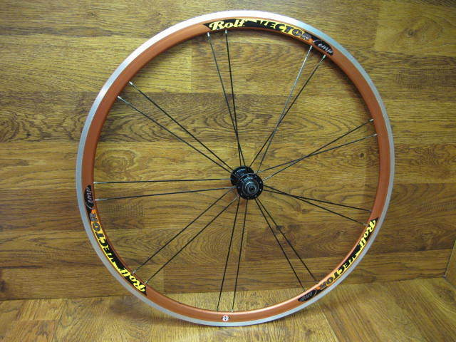 ROLF  VECTOR COMP BLADED PAIRED SPOKES 700C FRONT WHEEL - RED ANODIZED  promotions