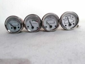 Allis-Chalmers-Tractor-Temp-only-Electrical-Oil-Pressure-Fuel-Amp-Gauge