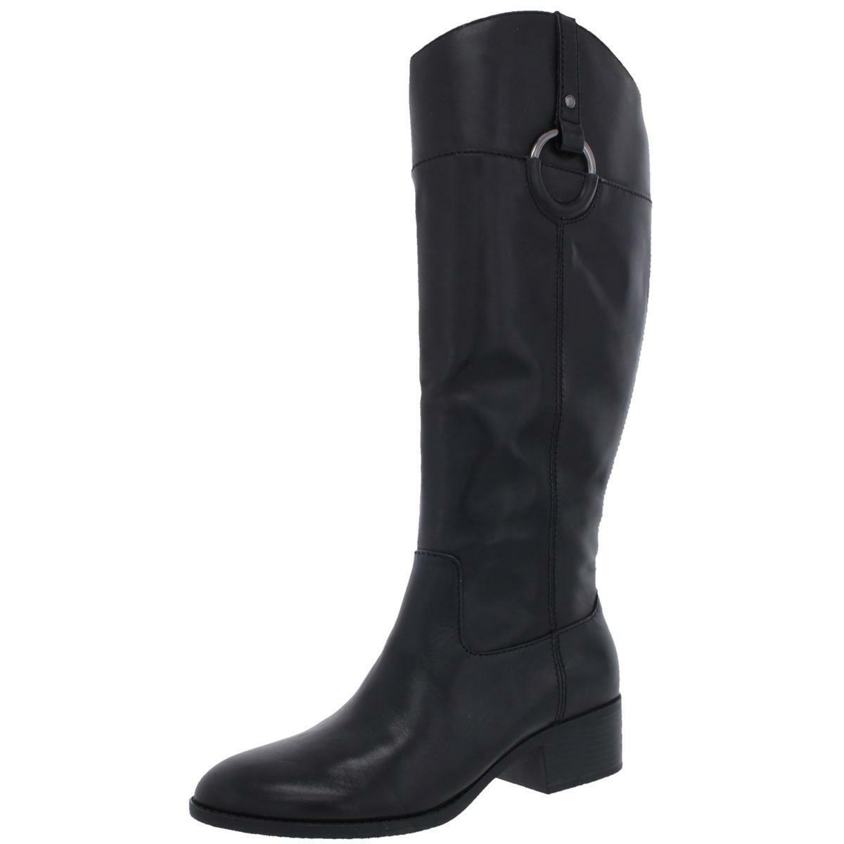 Alfani Femme bexleyy Cuir Noir Équitation Bottes Chaussures 7 moyen (B, M) BHFO 5426