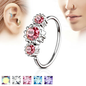 1pc-Three-CZ-Gem-Hoop-Nose-Cartilage-Ring-Rook-Daith-Helix-Tragus