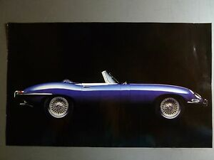 Image Is Loading 1966 Jaguar XKE Roadster Picture Print Poster RARE