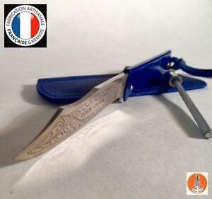 douk douk colors bleu couteau de poche tui cuir mini fusil 200mm 815gmcolb ebay. Black Bedroom Furniture Sets. Home Design Ideas