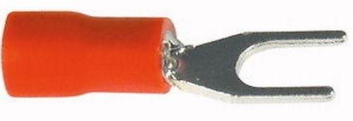 10pz CAPOCORDA TERMINALE A FORCELLA 3,2mm A CRIMPARE ROSSO FA210