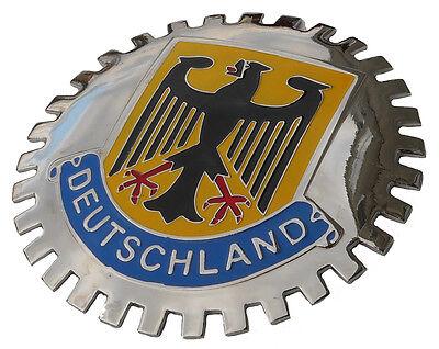 DEUTSCHLAND GERMAN/GERMANY FLAG CAR GRILLE BADGE