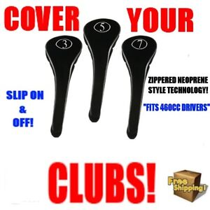 FULL-COMPLETE-3-5-7-WOOD-SET-NEW-DRIVER-GOLF-CLUB-HEAD-COVERS-BLACK-HEADCOVER
