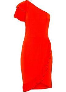 One-Shoulder-Kleid mit Volants Gr. 40/42 Rot Partykleid ...