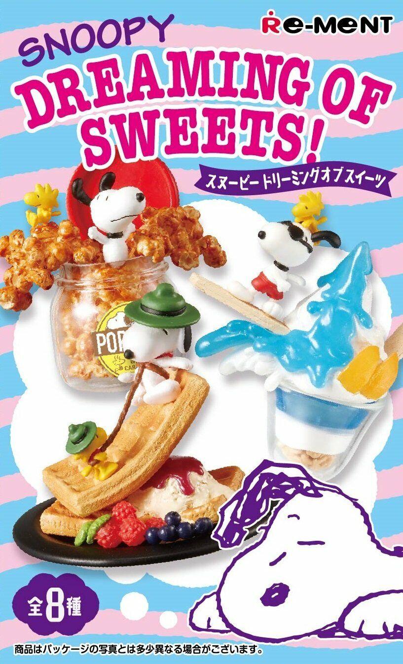 Re-ment maní Snoopy soñando de dulces terminado Conjunto Para Casa De Muñecas