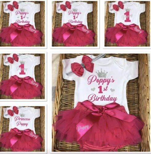 Baby girl's first birthday outfit princess frilly pants bloomers Or tutu Set