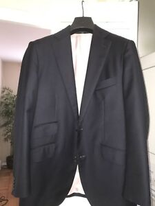 Details about Suitsupply Lazio Navy Blue Blazer-38S