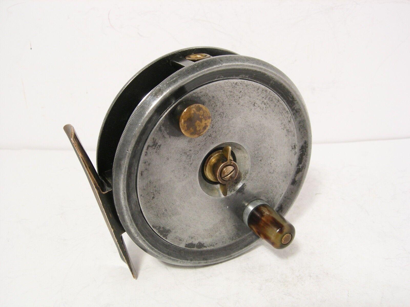 Vintage Antique Fine Reuben Heaton 3 ⅝  Alloy Fly Fishing Reel